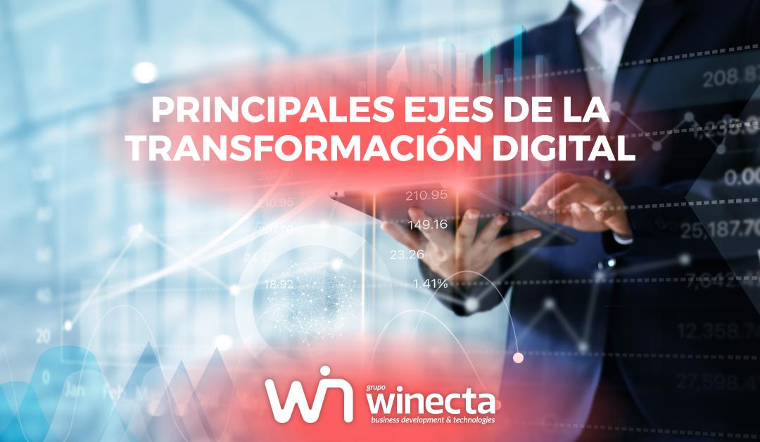 ¿Cuáles son los ejes de la transformación digital?